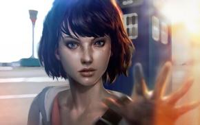 Life Is Strange, TARDIS, face, girl, Max Caulfield