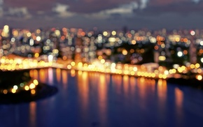 bokeh, Brazil, city, lights, city lights