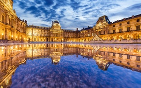 city, Paris, France, Louvre