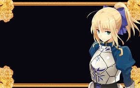 anime girls, ponytail, Saber, Fate Series, armor
