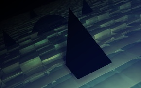 Cinema4D, pyramid, dark, Photoshop