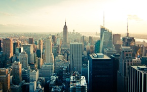 aerial view, skyline, building, USA, Manhattan, New York City