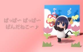 animal ears, anime girls, Hiiragi Hanamaru Youchien, Hanamaru Youchien, blue hair, blue eyes