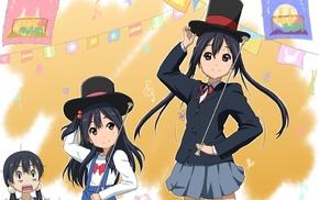 top hat, skirt, Kitashirakawa Tamako, twintails, anime girls, Azuki Azusa