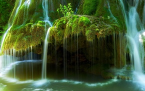 long exposure, Romania, landscape, nature, moss, green