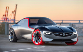 car, vehicle, Opel GT, concept cars