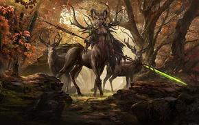 deer, Centaur, fantasy art