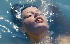 Adele Exarchopoulos, girl, wet hair, celebrity, water, blue is the warmest color