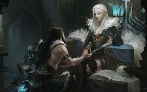 Poro, Ashe, League of Legends, Tryndamere, fantasy art