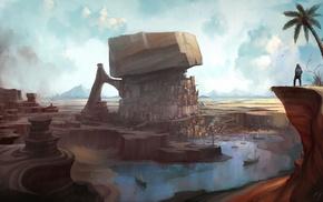 landscape, fantasy art, artwork