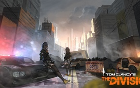 original characters, weapon, Tom Clancys The Division, zettai ryouiki, anime, anime girls