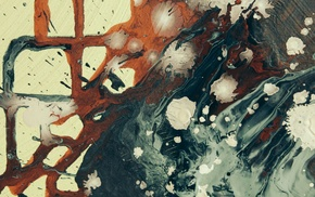 abstract, paint splatter, painting, artwork