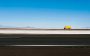 lines, simple, minimalism, hills, sand, car