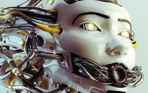 robot, artwork, digital art