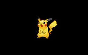 minimalism, 8, bit, Pikachu, Pokmon