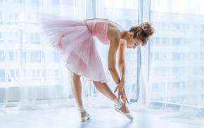 dancer, girl, ballerina, ballet slippers