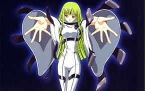 green hair, anime girls, C.C., Code Geass