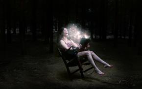 girl, fairy tale, barefoot, legs, magic, model