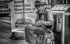 street music, men, old people, monochrome