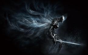 armor, weapon, warrior, artwork, Dark Souls III, sword
