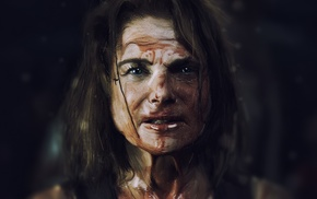 blood, The Walking Dead, movie art, Tovah Feldshuh