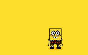 SpongeBob SquarePants, minimalism, simple background