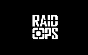 raidops, black background, typography, weapon, selfdefence