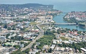 Lake Constance, aerial view, lake, Konstanz