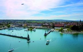 Lake Constance, aerial view, Konstanz, lake