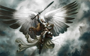 Magic The Gathering, fantasy art, angel