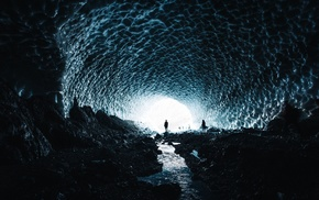 cave, cave, in, ice, nature