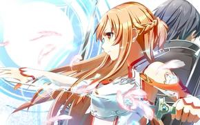 anime girls, Yuuki Asuna, Kirigaya Kazuto, Sword Art Online, anime