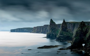 coast, rock, sea, cliff, nature, Scotland