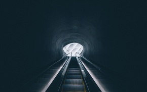 escalator, Los Angeles, museum, vignette, symmetry