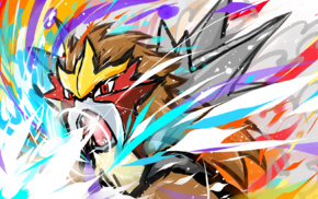 video games, Pokmon, Entei, ishmam, artwork
