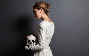 model, brides, skull, girl