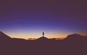 landscape, silhouette