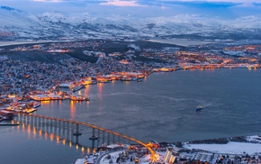 city, Troms, river, Norway