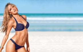 model, sensual gaze, girl, Candice Swanepoel, beach, bikini