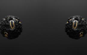 3d object, gold, minimalism