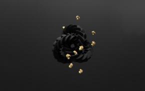 minimalism, 3d object, gold