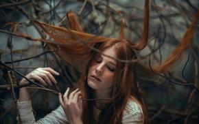 hair, model, girl