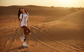 model, desert, girl