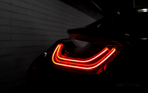 car, Tailights, vehicle, BMW i8, electric car, parking lot