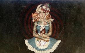 Alice in Wonderland, tattoo, artwork