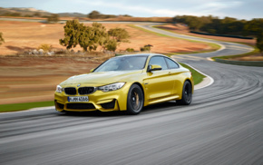 vehicle, BMW M4, car, motion blur, race tracks