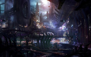science fiction, city, artwork, futuristic, james paick, concept art