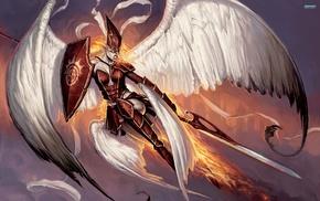 fantasy art, Matt Cavotta, angel