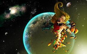 Metroid, space, Samus Aran