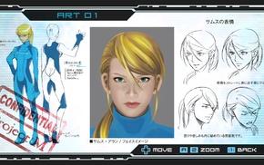 Samus Aran, Metroid, sketches, Other M, concept art
